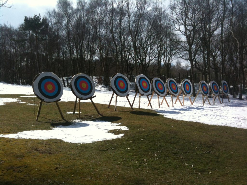 10 Targets lined up ready for winter shoot